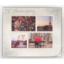 25th Anniversary Celebrations Sparkle Collage Photo Frame WG83625