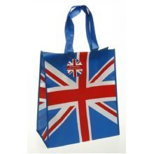 Union Jack Flag Shopping Bag 100% Recycled UK GB Souvenir Gift Reusable