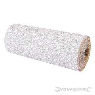Silverline Stearated Aluminium Oxide Roll 5m 320 Grit - 228554 -  roll aluminium oxide stearated grit 320 silverline 5m 228554