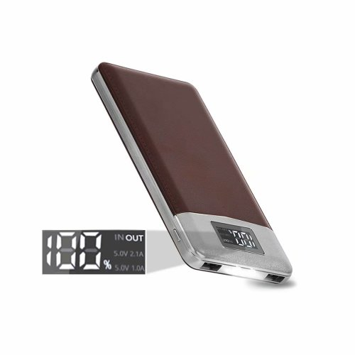 ARIO®16000mAh PU Leather Case PowerBank for all mobile phones (Brown)