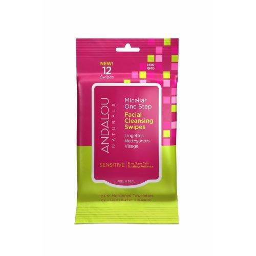 Andalou  Sensitive Micellar Facial Wipes 12 Pack