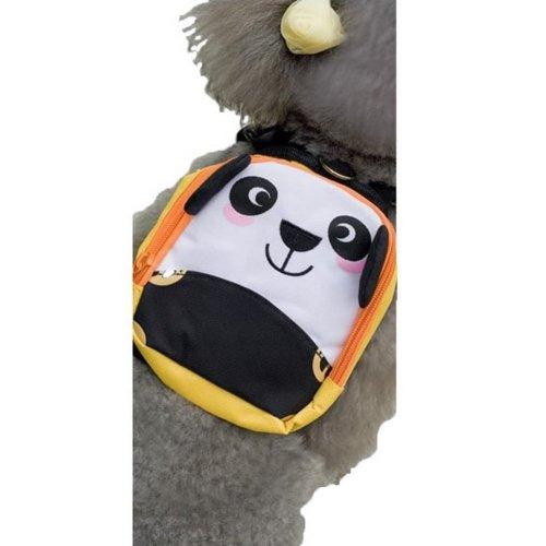 Cartoon Dog Pet Dog Outside Travel Backpack Shoulders Backpack---Panda