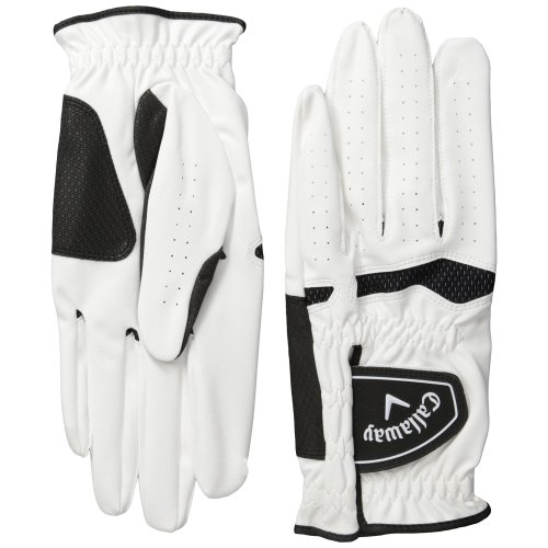 Callaway Xtreme 365 Left Hand Golf Gloves (Pack of 2), White, Small