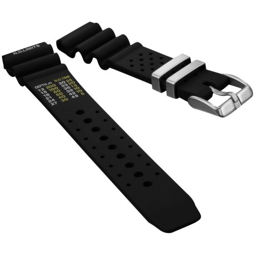 Diver's Watch Strap by ZULUDIVER, Pro NDL type for Citizen, Black, 22mm