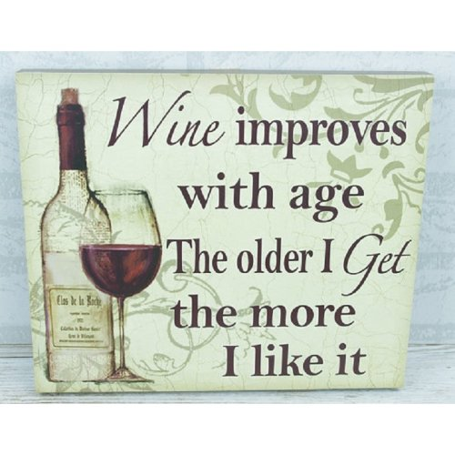 Plaque Wine Improves With Age Large 35cm SG1843