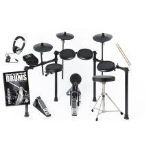 Alesis Nitro Electronic Drum Kit Includes Stool, Sticks, Headphones, Bass Pedal FREE Backbone Tutorial Book & CD Worth £15.99