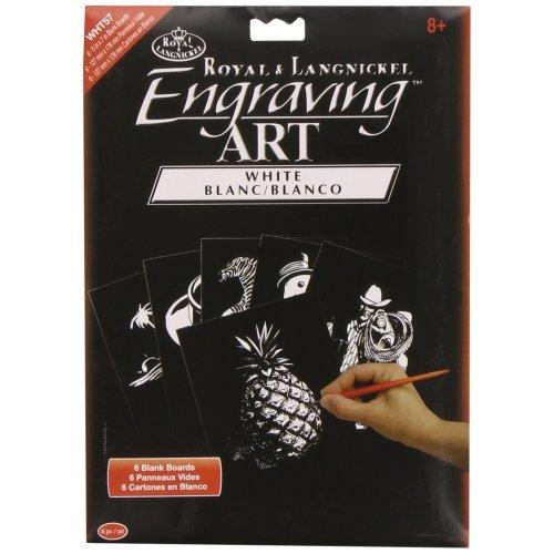Royal & Langnickel Engraving Art White 5 x 7 inch Blank Board (Pack of 6)