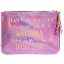 Unicorn shimmer pouch