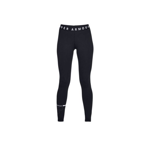 Under Armour Favourite Big Logo Leggings 1342638-001 Womens Black leggings Size: - UK