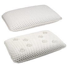 Trixes Bath & Spa Sleep Comfy Supported Soft White Pillow with 8 Suction Cups New