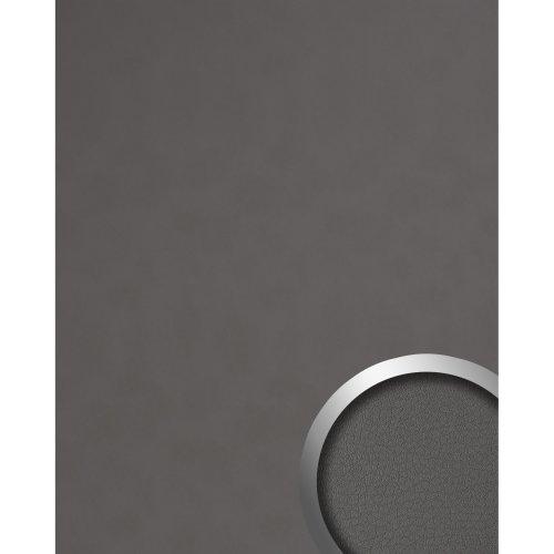 WallFace 19763 Antigrav CHARCOAL LIGHT Decor panel nappa leather look matt grey