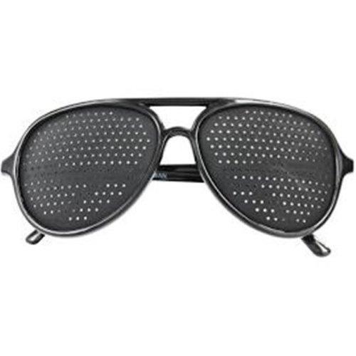 Natural Eyes - Holsen 5101 Full Lense Vision Pinhole Glasses Full Frame  Black