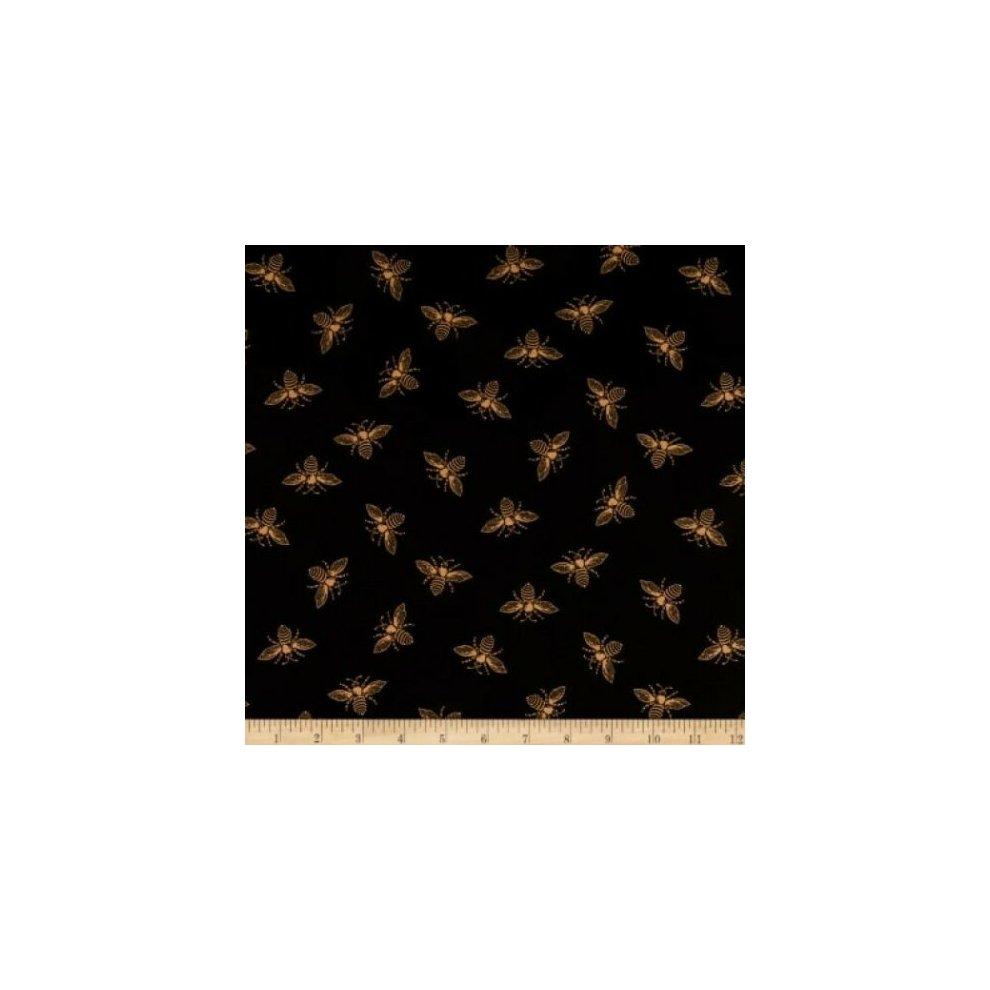 Fat Quarter Riviera Rose Bee Cotton Quilting Fabric Black Andover Fabrics