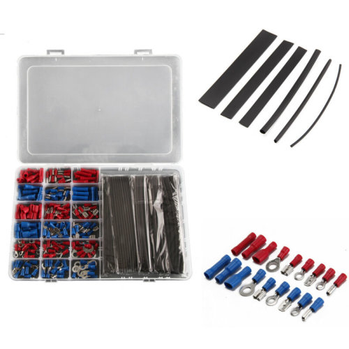 260pcs Car Terminals Wire Electrical  Connectors Heat Shrink Tube Sleeving Cable