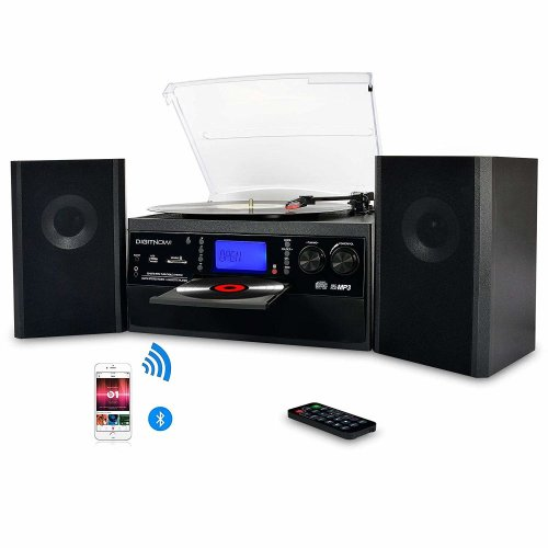 DIGITNOW Bluetooth Vinyl Record Player & Speakers