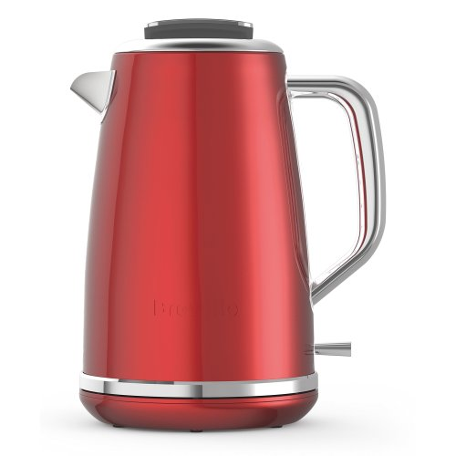 Breville Lustra Electric Jug Kettle, 1.7 Litre, Stainless Steel, Candy Red