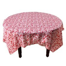 5 Pcs Printing Plastic Table Covers Disposable Party Tablecloths Heart