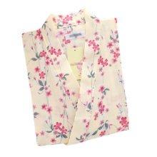 Japanese Style Women Thin Cotton Bathrobe Pajamas Kimono Skirt Gown-A04