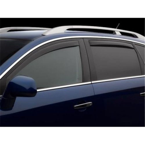 Weathertech W24-82437 Front & Rear Side Window Deflectors for 2007-2018 BMW X5, Dark Smoke