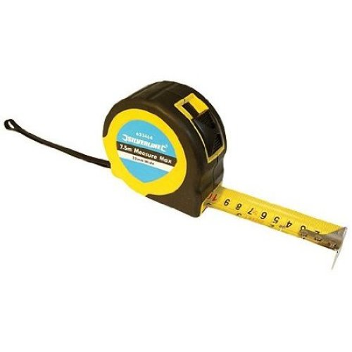 Silverline Measure Max Tape 10m / 33ft x 32mm - 868502 -  measure tape silverline 10m x max 32mm 868502
