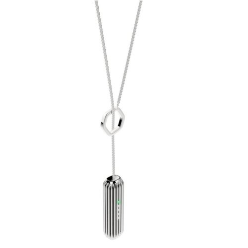 Fitbit Flex 2Lariat Pendant Fitness Tracker Accessory Stainless Steel Silver