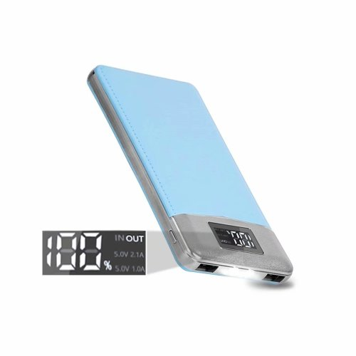 ARIO®16000mAh PU Leather Case PowerBank for all mobile phones (Blue)