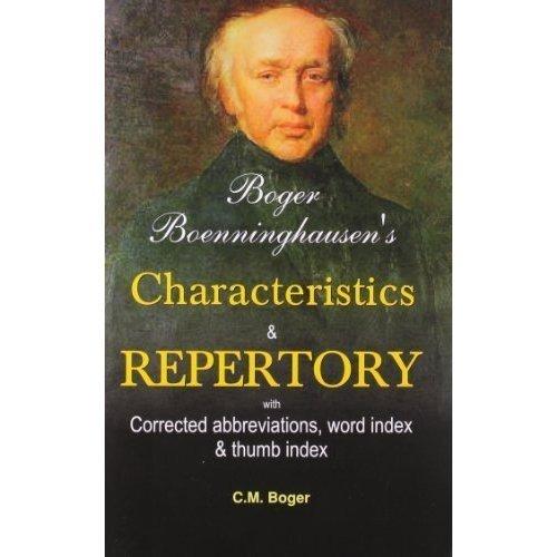 Boger Boenninghausen's Characteristics Materia Medica & Repertory With Word