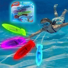 "Swimways 4pc Toypedo ""Lite Up"" Bandits 