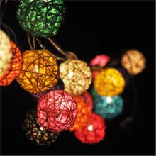 1M 10 LED Sepaktakraw Ball String Lights