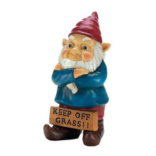 Summerfield Terrace 10018337 Keep Off Grass Grumpy Gnome
