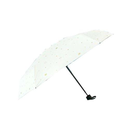 Sunscreen Sun And Rain Umbrella Anti-UV Umbrella Folding Umbrella, White Crown