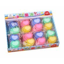 Luminous Jelly Erasers, Cute Award Gift, 2 Count Per Pack, 36 Pack, Heart Eraser