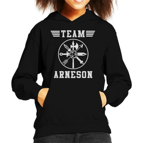 Dungeons And Dragons Team Arneson Kid's Hooded Sweatshirt