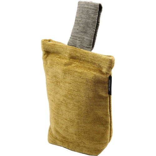McAlister Textiles Alston Chenille Yellow + Grey Door Stop
