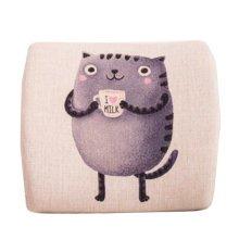 Cute Office Comfortable Nursing Lumbar Cushion Memory Foam Pillow Lumbar Support Back Pain Relief,#D