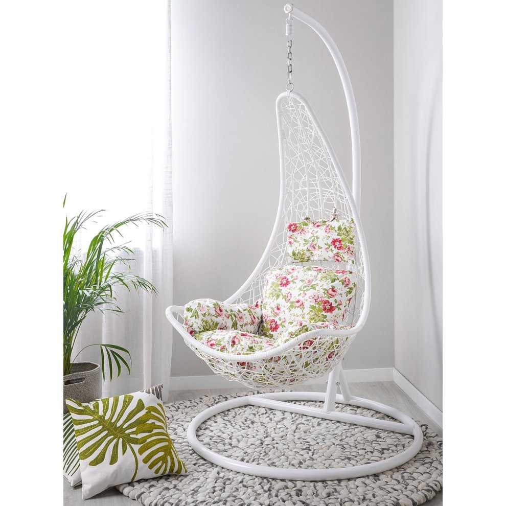 Groovy Rattan Hanging Chair White Melfi Machost Co Dining Chair Design Ideas Machostcouk