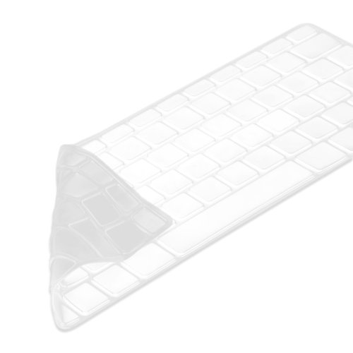 """kwmobile Keyboard Cover for Apple MacBook Pro 13"""" 15"""" (non-Retina) / iMac Keyboard - German QWERTZ Layout Keyboard Cover Silicone Skin - Transparent"""