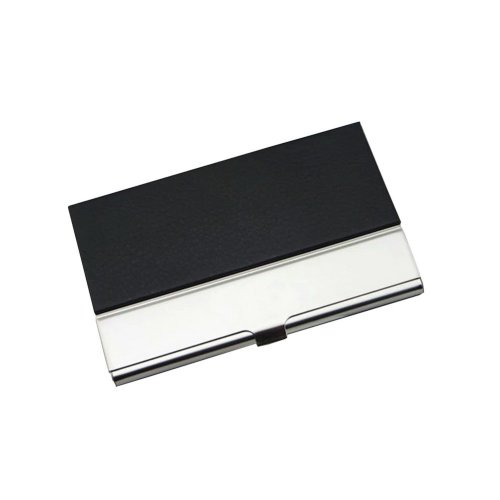 Useful Business Card Holder Durable Stainless Steel Credit Card Holder Black