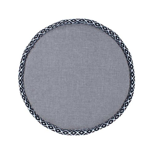 Simple Round Stool Cushion Comfortable Chair Pads, Gray