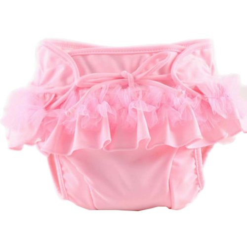 [Pink Lace] Reuseable Baby Swim Diaper Lovely Infant Swim Nappy Swimwear