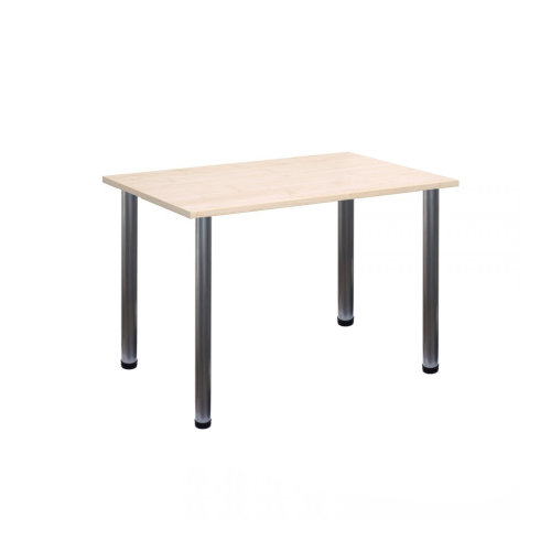 Computer Desk Office Dining Table Workstation Silver Legs Maple Top 120x80cm