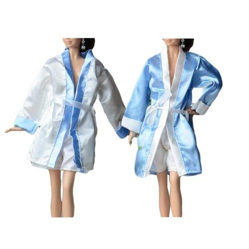 Random Color Doll Dress Up Pajama Set for 30 cm Doll, 2 Sets
