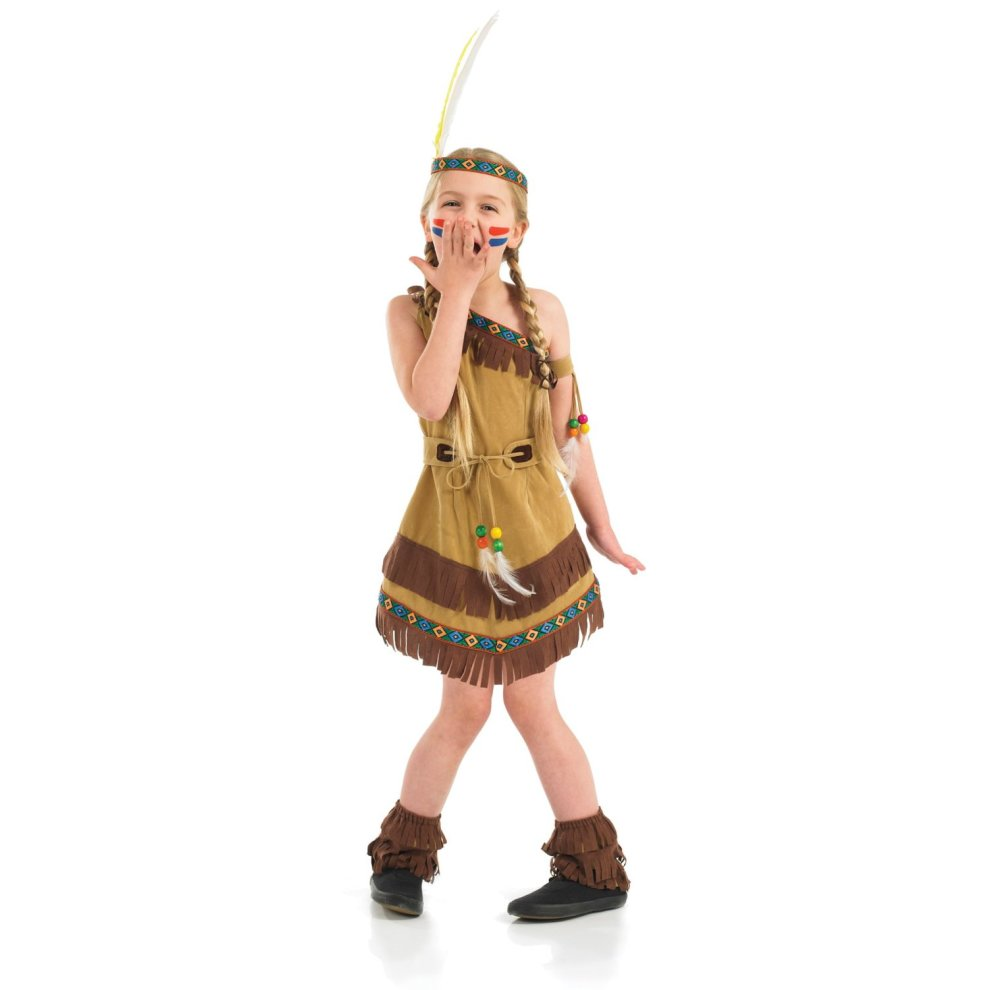 0ffe32afce Small Children's Indian Squaw Girl Costume on OnBuy