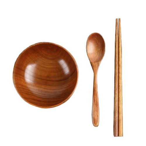Japanese Wooden Tableware Set Wooden Bowl for Kids and  Adults#01