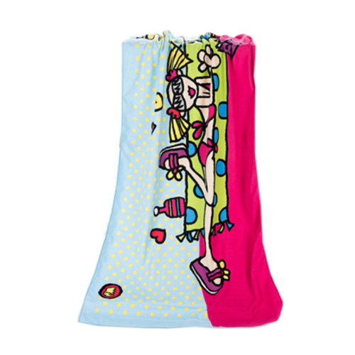 Large Soft Beach Towels 140*70cm, Girl Pattern
