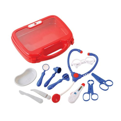 Playgo Medical Kit Dr. Feel Well Children Role Play Kit Hard Carry Case 2930