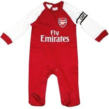 Official Arsenal Baby Core Kit Sleepsuit - 2017/18 Season (9-12 Months)