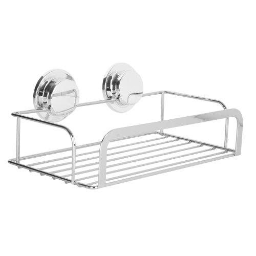 Stainless Steel StickNLock Chrome Shower Rack Caddy Basket Bathroom