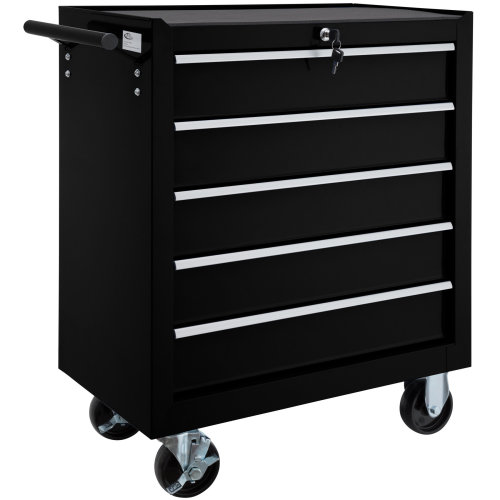 Tool chest with 5 drawers black