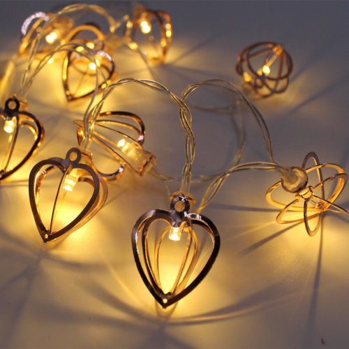 KCASA KT-4 Halloween Decorative  Heart-Shaped  Lights 1 Meter 10 Lights
